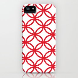 Interlocking Red iPhone Case