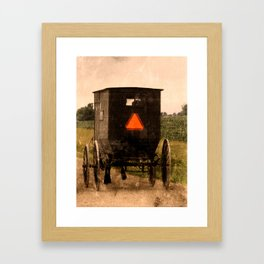 Amish Buggy Rural Country Road Framed Art Print