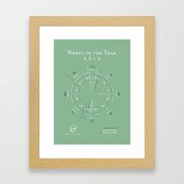Wheel of the Year 2019 Framed Art Print