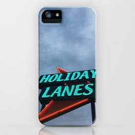 HOLIDAY LANES iPhone Case