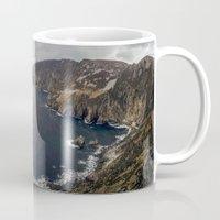 league Mugs featuring Slieve League by cmphotography