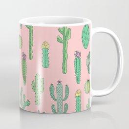 Cactus Pattern Pink Kaffeebecher