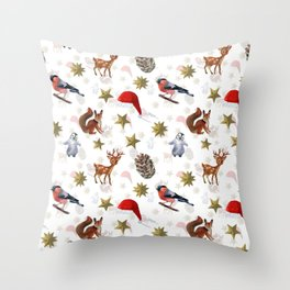 Christmas holiday Throw Pillow