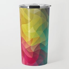 Abstract Color Wave Flash Travel Mug
