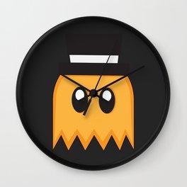 Pac-Men - Clyde Ghost - Orange Wall Clock