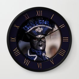 Blue Carnival Costume Wall Clock