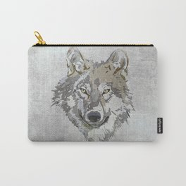 Wolf Head Illustration Carry-All Pouch