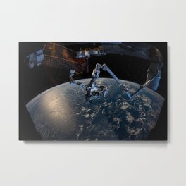 27. The Canadarm2 robotic arm with the Dextre robotic hand Metal Print