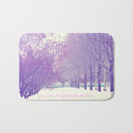 Can't see the forest for its trees Bath Mat