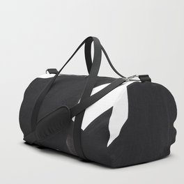 Black And White Minimalist Mid Century Abstract Ink Art Duffle Bag