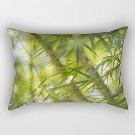 Bamboo Bokeh Rectangular Pillow