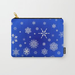 Snow in the Winter Night Carry-All Pouch