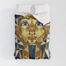 Golden Tutankhamun - Pharaoh's Mask Duvet Cover