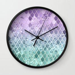 Mermaid Glitter Scales #1 #shiny #decor #art #society6 Wall Clock