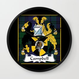 Campbell Clan Scottish Coat Of Arms And Crest Wall Clock