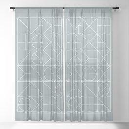 Mid Century Geometric 02 Sheer Curtain