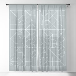 Mid Century Geometric 02 Sheer Curtain