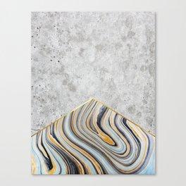 Concrete Arrow - Blue Marble #177 Canvas Print