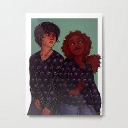 Death sibling with their matching sweaters Metal Print