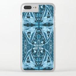 Haida Mask: Digital Quilt Design Clear iPhone Case