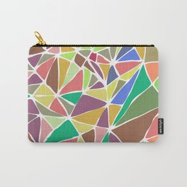 Colorful  mosaic abstract artwork Geometric Carry-All Pouch