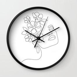 Dreamy Girl Bloom Wall Clock