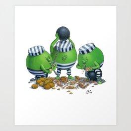 Pea Cons Art Print