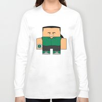 power rangers Long Sleeve T-shirts featuring Mighty Morphin Power Rangers - Tommy (The Original Green Ranger) by Choo Koon Designs