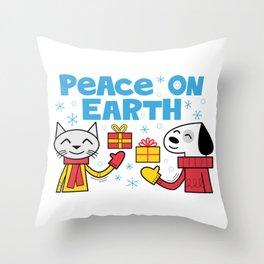 Peace on Earth Throw Pillow