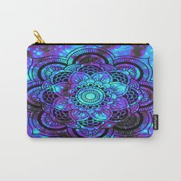 Mandala : Bright Violet & Teal Galaxy 2 Carry-All Pouch