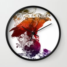 the watchers 3 color version Wall Clock
