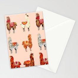 llamas pattern Stationery Cards