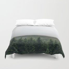 Pines in Iceland Duvet Cover
