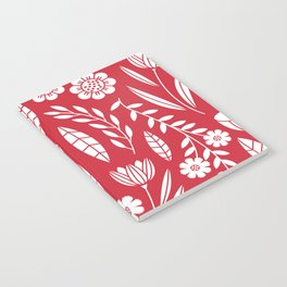 Blooming field - red Notebook