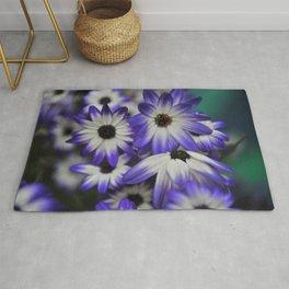 Blue & White Daisy Flowers #1 #floral #decor #art #society6 Rug