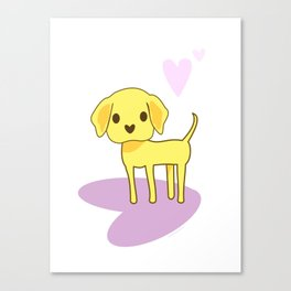 Lilah the Lab Canvas Print