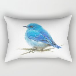 Mountain Bluebird Rectangular Pillow