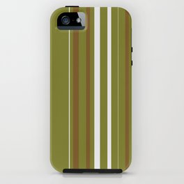 Olive Pin Stripes iPhone Case