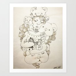 Coping mechanism Art Print