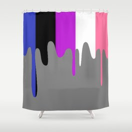 Genderfluid Slime Shower Curtain