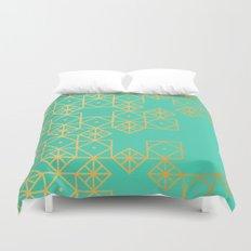 Geometric Turquoise Duvet Cover