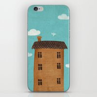 plane iPhone & iPod Skins featuring Plane by Oksana Tarasova