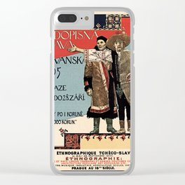 Czechoslav ethnographic exposition vintage ad Clear iPhone Case