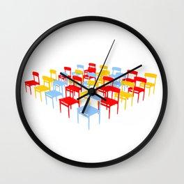 25 Chairs Wall Clock