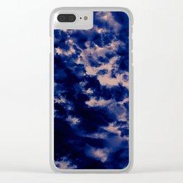 Violet Storm Clear iPhone Case