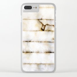 Weathered Alabaster Clear iPhone Case