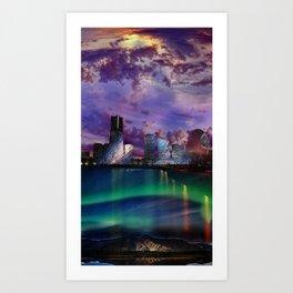 Surreal Cityscape Art Print