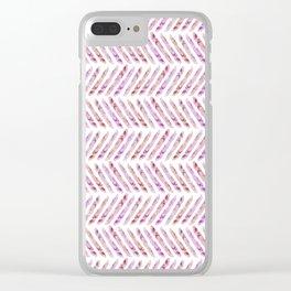 Summer Day Herringbone Clear iPhone Case