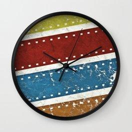 film pattern Wall Clock