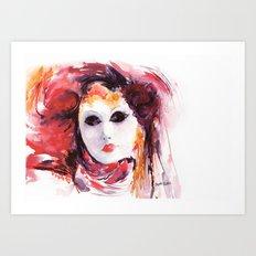Carnival ... Mask Art Print